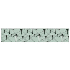 Telephone Lines Repeating Pattern Flano Scarf (small)