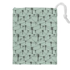 Telephone Lines Repeating Pattern Drawstring Pouches (xxl)