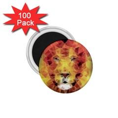 Fractal Lion 1 75  Magnets (100 Pack)