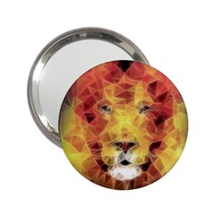 Fractal Lion 2 25  Handbag Mirrors