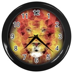 Fractal Lion Wall Clocks (black)