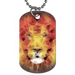 Fractal Lion Dog Tag (one Side)