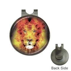 Fractal Lion Hat Clips With Golf Markers