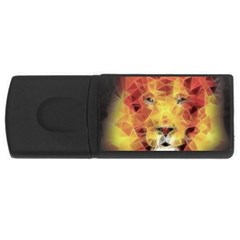 Fractal Lion Rectangular Usb Flash Drive