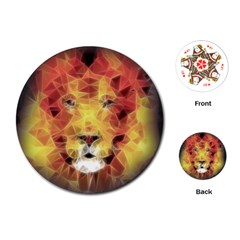 Fractal Lion Playing Cards (round)