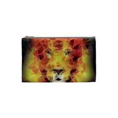 Fractal Lion Cosmetic Bag (small)