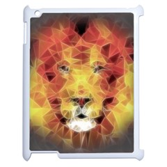 Fractal Lion Apple Ipad 2 Case (white)