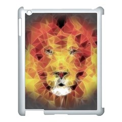 Fractal Lion Apple Ipad 3/4 Case (white)