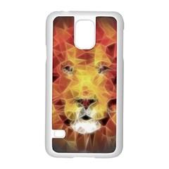 Fractal Lion Samsung Galaxy S5 Case (white)