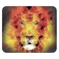 Fractal Lion Double Sided Flano Blanket (small)