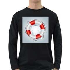 Spare Tire Icon Vector Long Sleeve Dark T Shirts