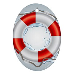 Spare Tire Icon Vector Oval Ornament (two Sides)