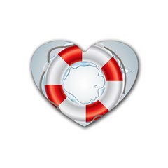 Spare Tire Icon Vector Heart Coaster (4 Pack)