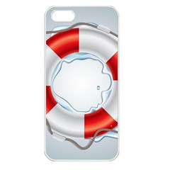 Spare Tire Icon Vector Apple Iphone 5 Seamless Case (white)