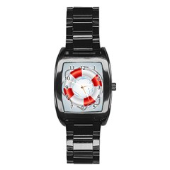 Spare Tire Icon Vector Stainless Steel Barrel Watch
