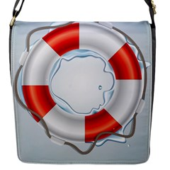 Spare Tire Icon Vector Flap Messenger Bag (s)