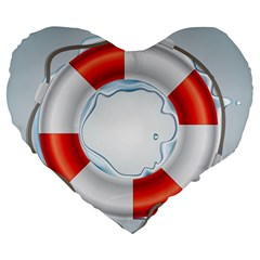 Spare Tire Icon Vector Large 19  Premium Flano Heart Shape Cushions