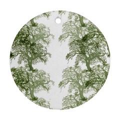 Trees Tile Horizonal Ornament (round)
