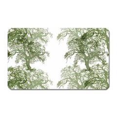 Trees Tile Horizonal Magnet (rectangular)