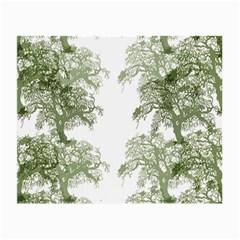 Trees Tile Horizonal Small Glasses Cloth