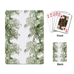 Trees Tile Horizonal Playing Card