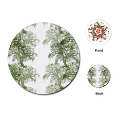 Trees Tile Horizonal Playing Cards (round)