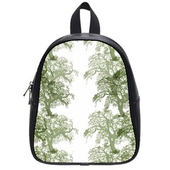 Trees Tile Horizonal School Bag (small)