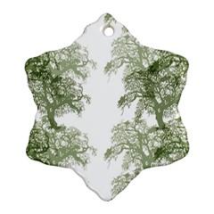 Trees Tile Horizonal Snowflake Ornament (two Sides)