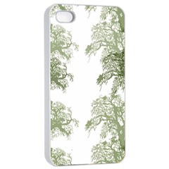 Trees Tile Horizonal Apple Iphone 4/4s Seamless Case (white)