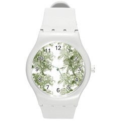 Trees Tile Horizonal Round Plastic Sport Watch (m)