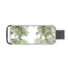 Trees Tile Horizonal Portable Usb Flash (two Sides)
