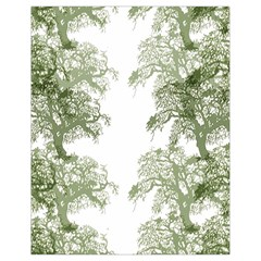 Trees Tile Horizonal Drawstring Bag (small)