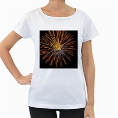 Pyrotechnics Thirty Eight Women s Loose Fit T Shirt (white)