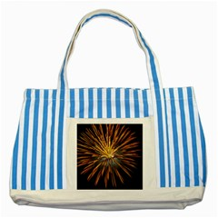 Pyrotechnics Thirty Eight Striped Blue Tote Bag