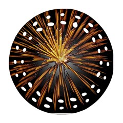 Pyrotechnics Thirty Eight Round Filigree Ornament (two Sides)