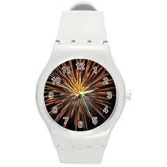 Pyrotechnics Thirty Eight Round Plastic Sport Watch (m)