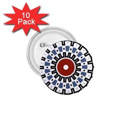 Mandala Art Ornament Pattern 1 75  Buttons (10 Pack)