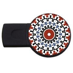 Mandala Art Ornament Pattern Usb Flash Drive Round (2 Gb)