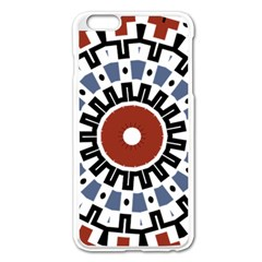 Mandala Art Ornament Pattern Apple Iphone 6 Plus/6s Plus Enamel White Case
