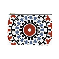 Mandala Art Ornament Pattern Cosmetic Bag (large)