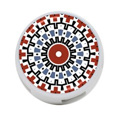 Mandala Art Ornament Pattern 4 Port Usb Hub (two Sides)