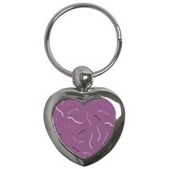 Plumelet Pen Ethnic Elegant Hippie Key Chains (heart)