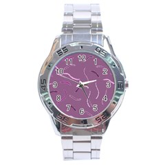 Plumelet Pen Ethnic Elegant Hippie Stainless Steel Analogue Watch