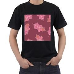 Plumelet Pen Ethnic Elegant Hippie Men s T Shirt (black) (two Sided)
