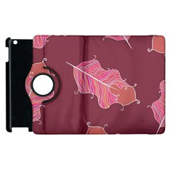 Plumelet Pen Ethnic Elegant Hippie Apple Ipad 3/4 Flip 360 Case