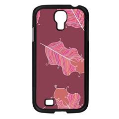 Plumelet Pen Ethnic Elegant Hippie Samsung Galaxy S4 I9500/ I9505 Case (black)