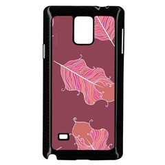 Plumelet Pen Ethnic Elegant Hippie Samsung Galaxy Note 4 Case (black)