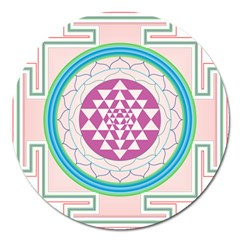 Mandala Design Arts Indian Magnet 5  (round)