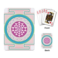 Mandala Design Arts Indian Playing Card