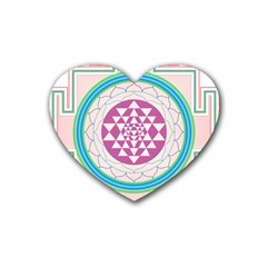 Mandala Design Arts Indian Heart Coaster (4 Pack)
